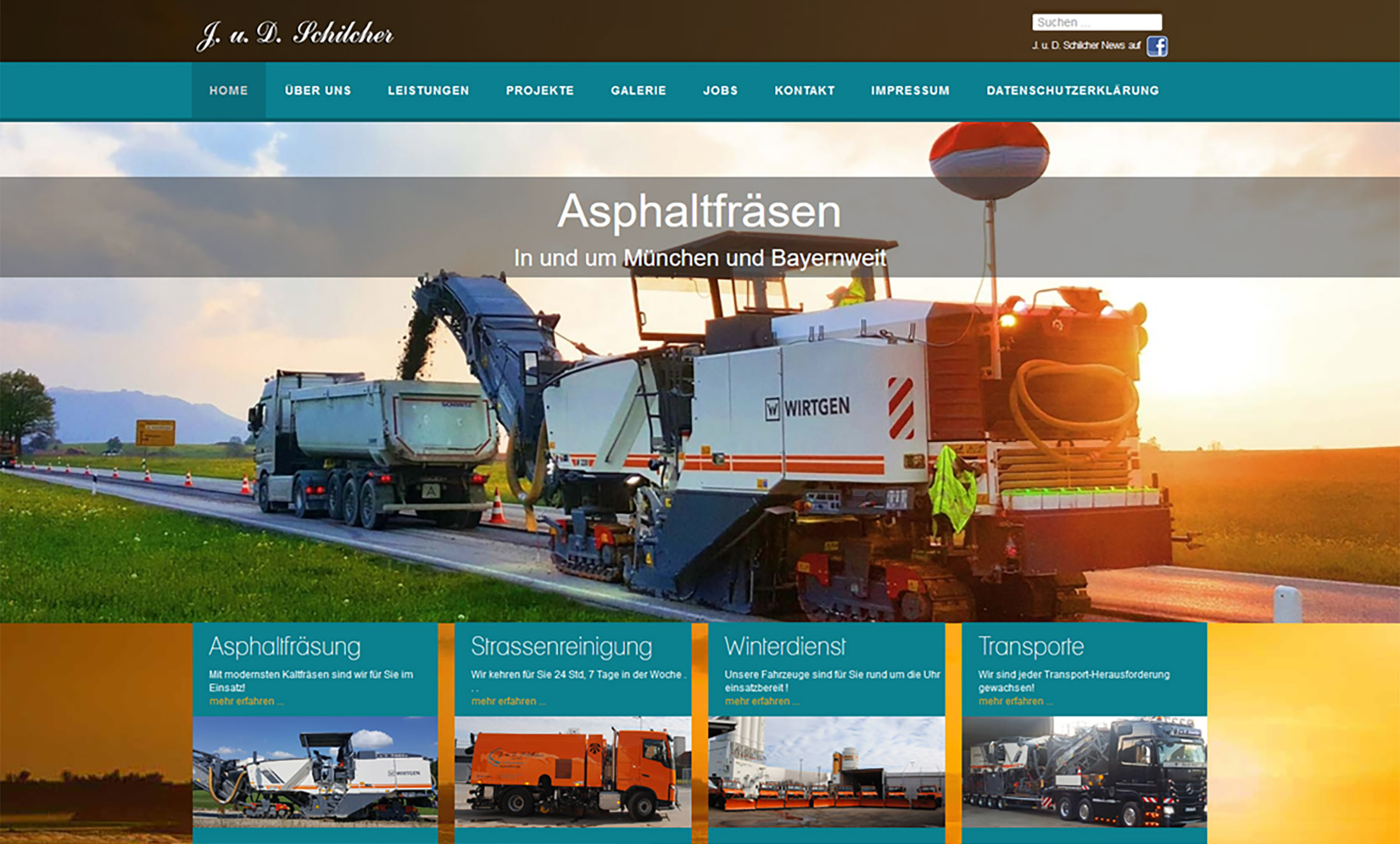 Projekt Asphaltfräsen München